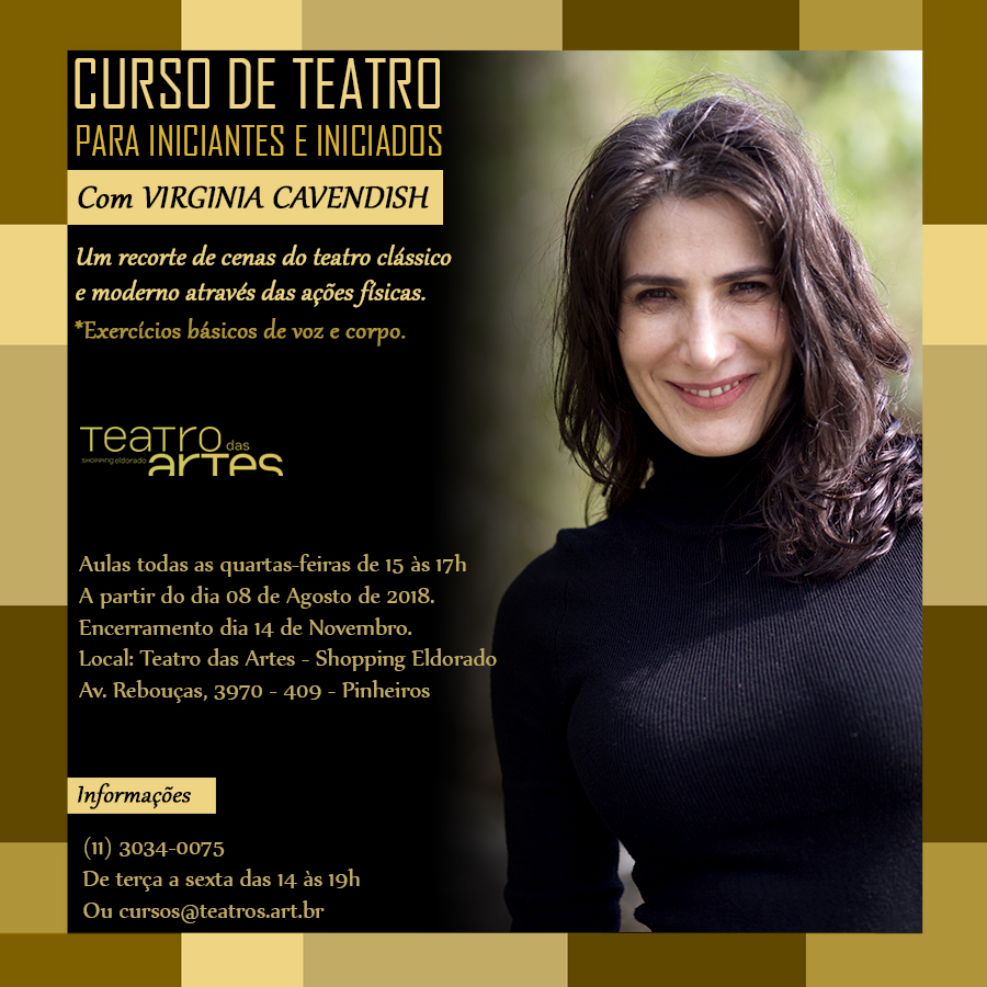 Curso de teatro com VIRGINIA CAVENDISH
